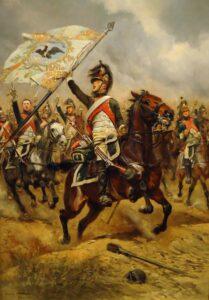 竜騎兵を描いた絵画