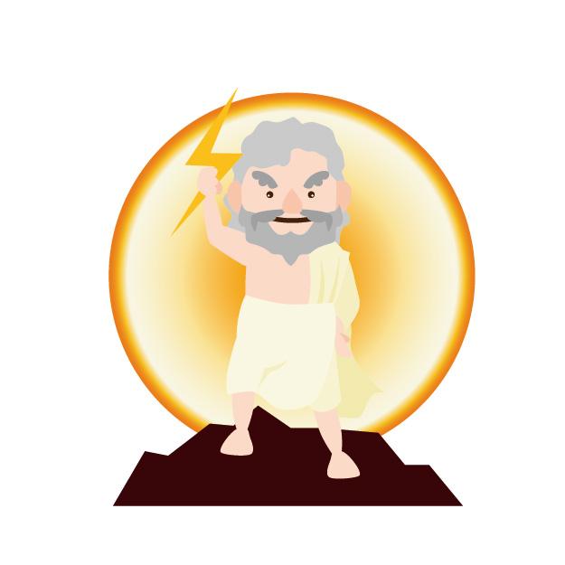 ギリシャ神話・ゼウスのイラスト