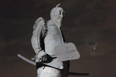 豊國神社の豊臣秀吉像